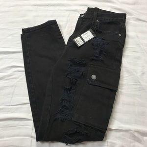LF Carmar Black Distressed Jeans
